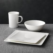 square dinnerware crate and barrel