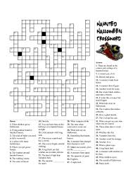 halloween crosswords