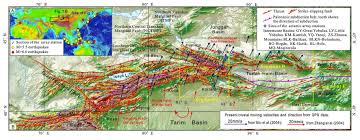 Kunlun Mountains Map Earthquake Report China 2 Jay Patton Online