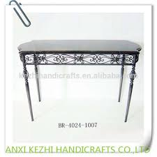 Iron Console Table Vintage Wrought Iron Console Table With Marble Top Buy Console