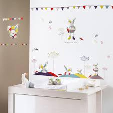 thermomètre mural chambre bébé stickers muraux tinoo de sauthon baby deco sur allobébé
