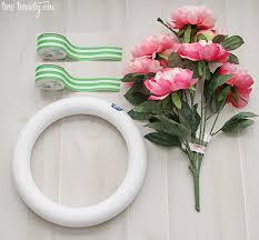 wreath supplies preppy wreath