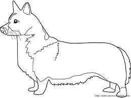 corgi coloring pages sketch coloring page