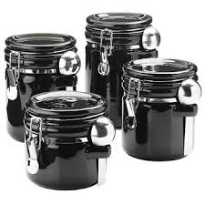 oggi kitchen canisters cheap black ceramic canister sets find black ceramic canister