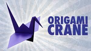 origami crane folding instructions youtube