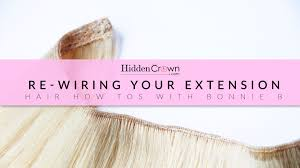 hair extensions for crown area re wiring your hidden crown hair extensions youtube