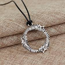 skyrim dragon pendant necklace images Skyrim dragon ring steel necklace the dragon shop jpg