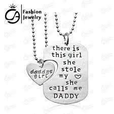 Personalized Hand Stamped Jewelry Aliexpress Com Buy Personalized Hand Stamped Daddy Daughter