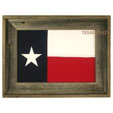 State Flag Of Texas Vintage Style Cotton 12 X 18 Inch State Of Texas Flag Framed
