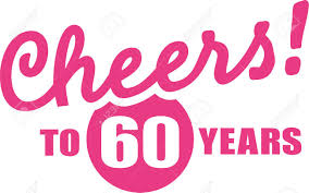 60 years birthday cheers to 60 years 60th birthday royalty free cliparts vectors