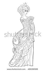 coloring book black ink stock vector 466288592
