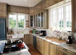 this charming southern style farmhouse kitchen gets lots of light