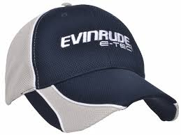brp evinrude e tec moisture wicking navy grey hat cap ebay