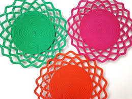 wire lace small wire lace platter in orange porcupine rocks