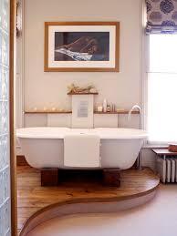 Contemporary Bathtub Raised Platform Bathroom Contemporary With Big Windows Modern