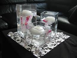 amusing triangle contemporary glass inside flower decoration