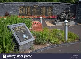 memorial garden joey dunlop memorial garden in ballymoney northern ireland stock
