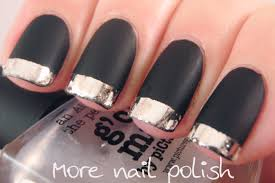 g u0027day matte black with silver tips more nail polish