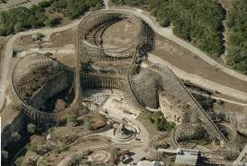 Six Flags Giant Newsplusnotes The Rattler Slithers Away From Six Flags Fiesta Texas