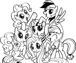 my little pony coloring pages with friends kids activity