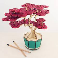 flat packed cherry bonsai tree kit by pack tickle
