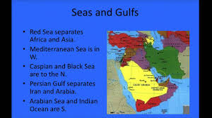 Sw Asia Map by Chapter 2 South Southwest And Central Asia Youtube