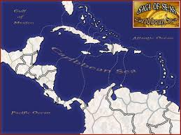 Caribbean Ocean Map by Saga Of Seas Caribbean Sea Map