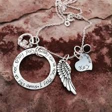 Personalized Memorial Necklace Angel Wing Necklaces Angel Pendants Custommade Com