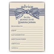 advice to the cards baby shower advice cards paperstyle