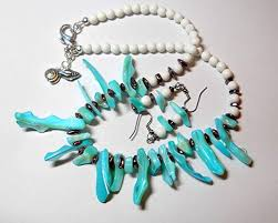 blue shell necklace images Blue shell necklace blue shell beads blue beaded jpg