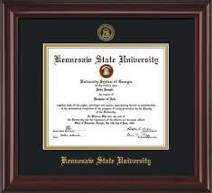 diploma frames kennesaw state diploma frames with custom ksu detailing