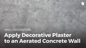 Concrete Wall by How To Apply Decorative To Plaster A Wall Diy Projects Youtube