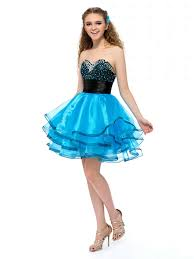 cute a line sweetheart crystals layered black and blue short prom