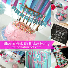 baby girl birthday ideas a stylish blue and pink birthday party