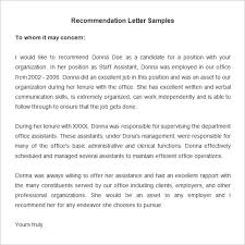 sample reference letter from previous employer letter template
