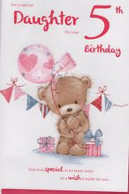for a special daughter on your 5th birthday u2013 card ebay