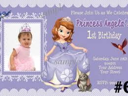 princess sofia the first birthday invitations iidaemilia com
