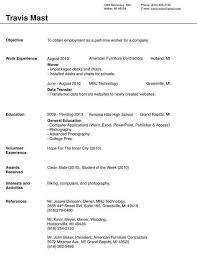 College Student Job Resume by Form Of Resume For Job Resume Sample
