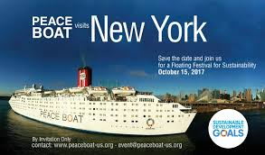 New York City 2017 Event Calendar Peace Boat In Nyc U201cfloating Festival For Sustainability U201d U2013 Oct 15