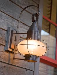Cabin Light Fixtures Rustic Outdoor Lighting Spaces Rustic With Brick Patio Cabin