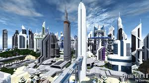Minecraft City Maps Future City Wallpapers Multi Monitor Hq Future City Pictures
