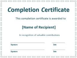 certificate of construction completion certificate of final