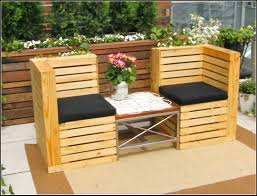 Pallet Patio Furniture Ideas by Elegant Outdoor Furniture Made From Pallets On Modern Home