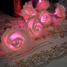 String Of Flower Lights by Wish 20 Led 3 Colors Rose Flower String Lights Fairy Party