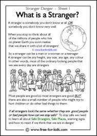 responsibility activity sheets more stranger danger worksheets