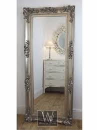 Home Decorating Mirrors by Georgina Silver Ornate Leaner Antique Floor Mirror 68