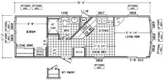 One Bedroom Trailer Single Wide Mobile Home Floor Plans Bookks Pinterest Single