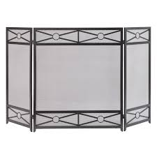 shop pleasant hearth 54 in vintage iron steel 3 panel diamond