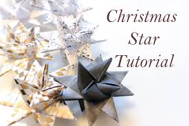 diy christmas star paper folding moravian froebel star