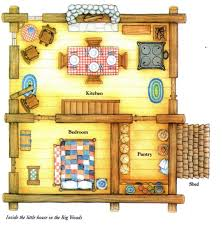 little house plans little house in the big woods laura ingalls wilder floorplan of